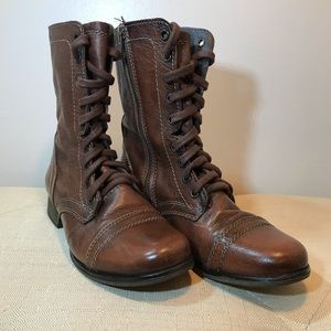 Women's Steve Madden Leather Combat Boots EUC